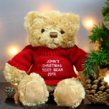 Personalised Christmas Message Bear P021040